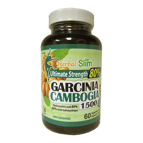 60 Capsule Bottle of Herbal Slim Ultimate Strength Garcinia Cambogia