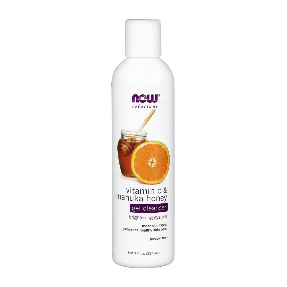 NOW Vitamin C & Manuka Honey Gel Cleanser