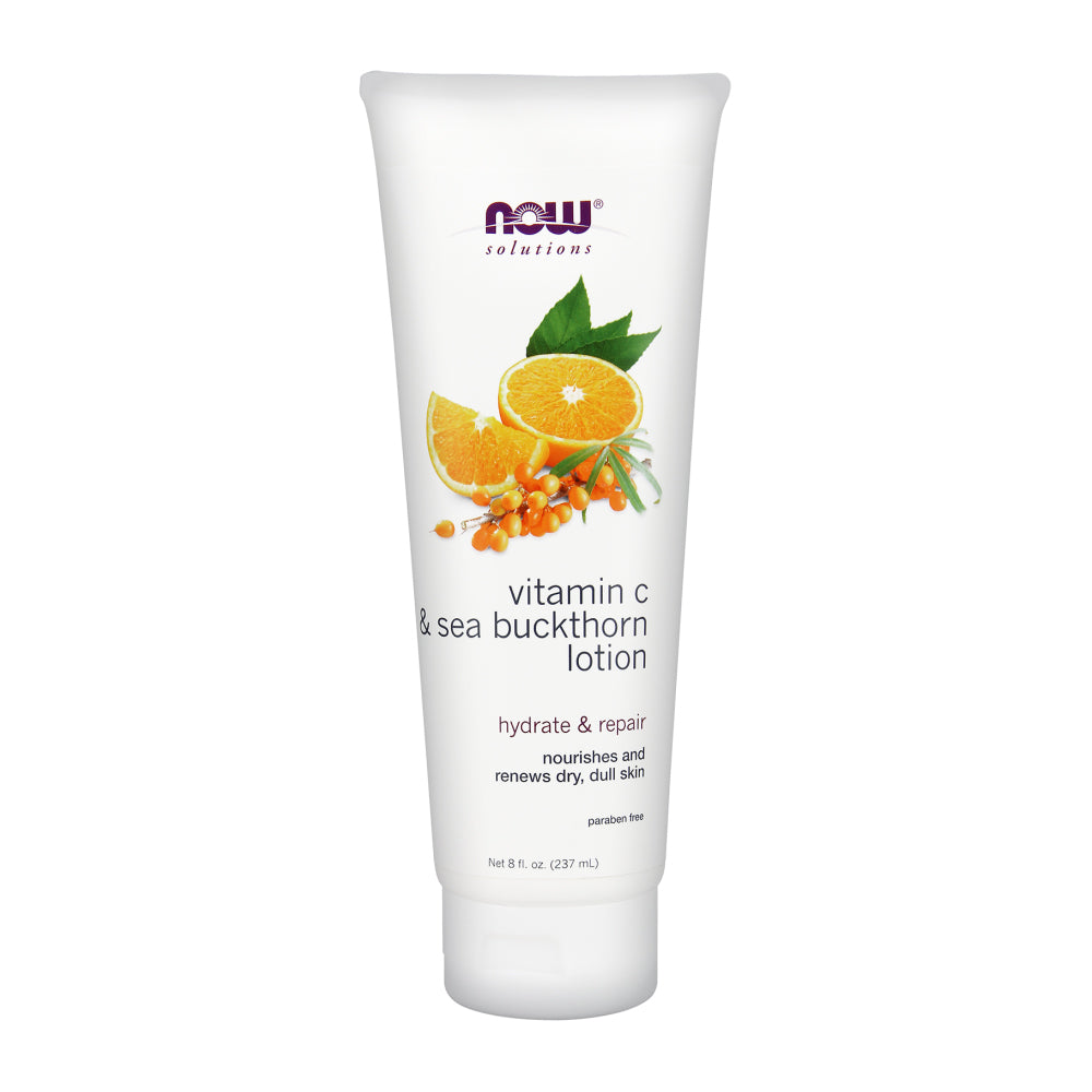 Tube of NOW Vitamin C & Sea Buckthorn Lotion