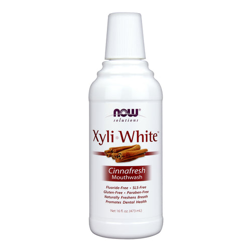 NOW Xyli-White Mouthwash, Cinnafresh