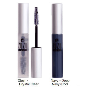 Clear and Navy ZuZu Luxe Mascara side by side