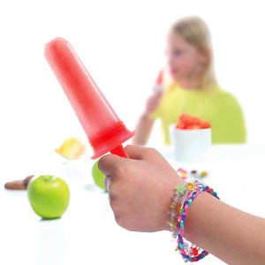 hand holding an ice-pop made with an Orka silicone push mold