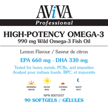 Load image into Gallery viewer, Aviva - High-Potency Omega-3 Fish Oil