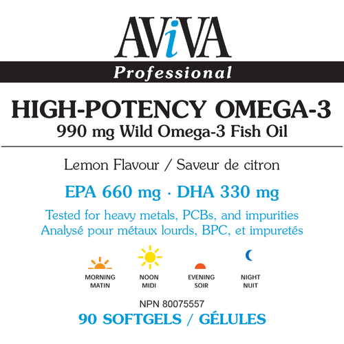 Aviva - High-Potency Omega-3 Fish Oil