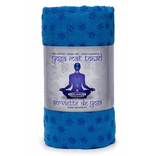 Blue Yoga Mat Antislip Towel out of plastic wrapping