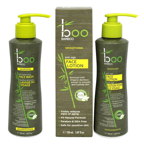 Boo Bamboo Skin Balancing Face Wash and Anti-Age Face Lotion