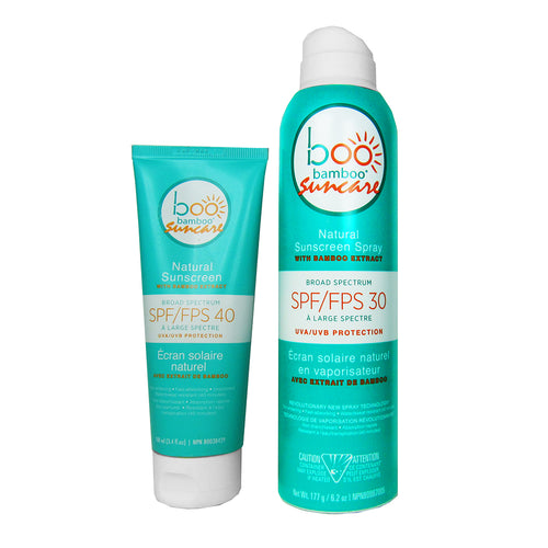Boo Bamboo SPF 40 and SPF 30 Natural Sunscreen