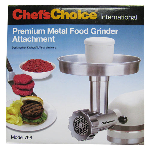 Chef's Choice - Premium Metal Food Grinder Attachment for KitchenAid Stand Mixers