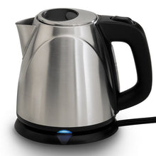 Chef's Choice Compact Cordless Kettle M673, on base and turned on