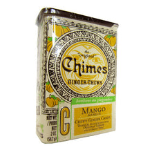 2 oz Tin of Chimes Mango Ginger Chews