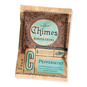 Chimes Peppermint Ginger Chews, 5 oz Packet