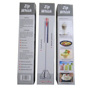 3 Cooks Innovations Zip Whisk boxes, showing different faces