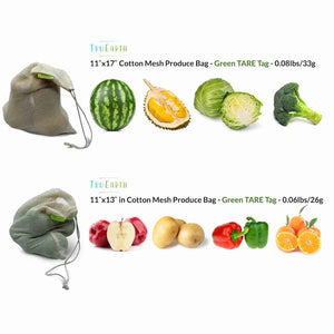 Cotton Mesh Produce Bag Specifications and Suggested Contents