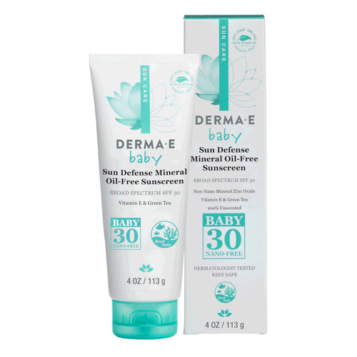 Derma E Natural Mineral Sunscreen SPF 30, Baby formulation