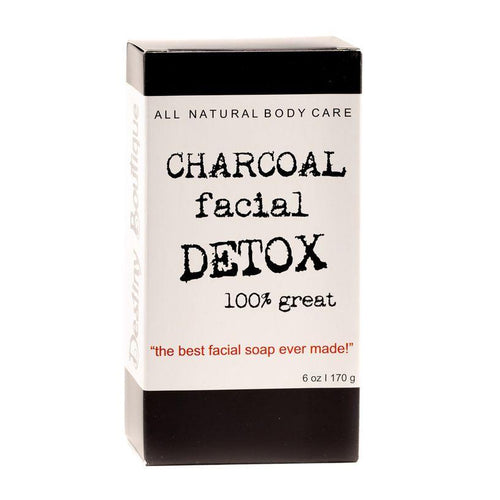 package for Destiny Boutique Charcoal Facial DETOX Soap
