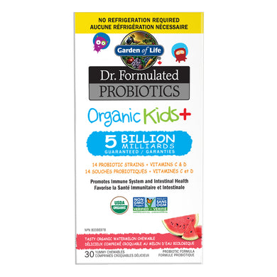 Dr. Formulated Probiotics Organic Kids+, Watermelon flavour