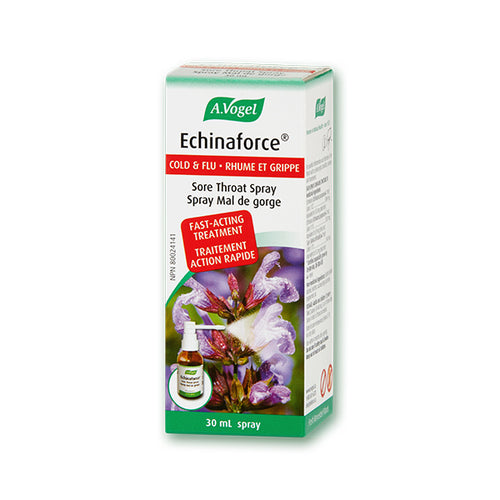 Package of A. Vogel Echinaforce Sore Throat Spray