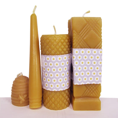 Skep, 6-inch Tapered, and Pillar Candles
