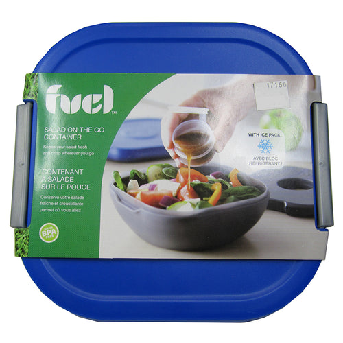 Lid and wrapper on Fuel Salad On The Go Container