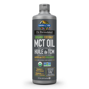 473ml bottle of Dr. Formulated Organic Coconut MCT Oil