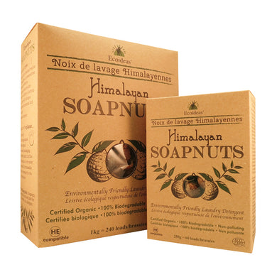 1kg and 250g boxes of Ecoideas Himalayan Soapnuts