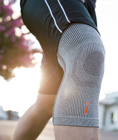 35dbed5478 ... Incrediwear Knee Brace on a leg · Load image into Gallery viewer,  Close-up of a leg jogging with an Incredibrace