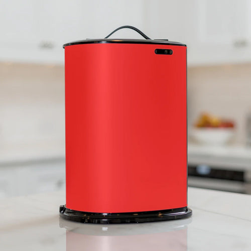 Portable upright Innovia dispenser in Red