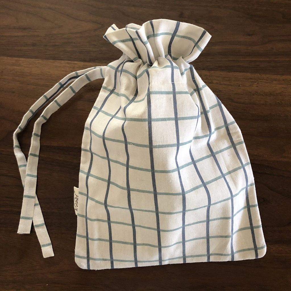 Keeki Bag, with Blue plaid pattern