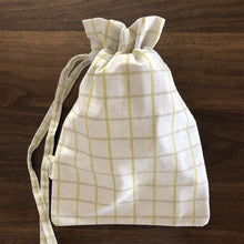 Keeki Bag, with Yellow plaid pattern