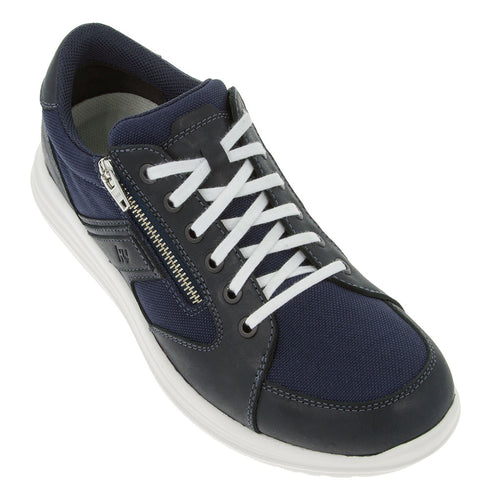 kynun Caslano shoe in Navy, shown from outer side