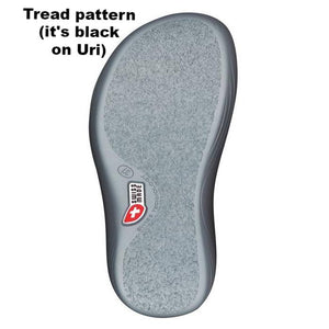 Bottom of kybun Special Sandal Sole, shown in Gray
