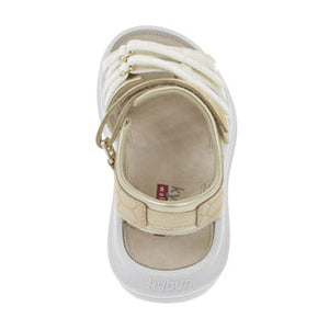 kybun Tessin sandal in Beige, rear view