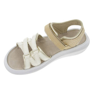 kybun Tessin sandal in Beige, top inside view