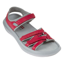 kybun Tessin sandal in Magenta, outer side