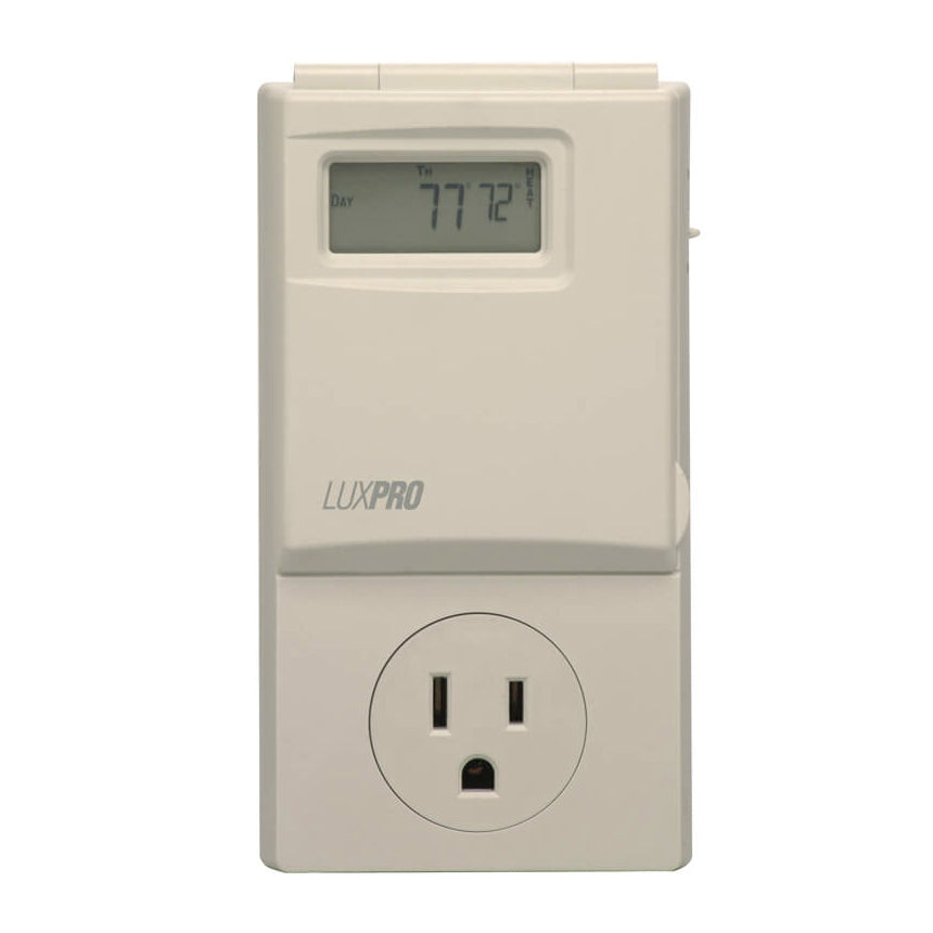 LuxPro - Programmable Outlet Thermostat on 2 stage heat pump thermostat wiring, nordyne thermostat wiring, aprilaire thermostat wiring, wax thermostatic element, dual thermostat wiring, payne thermostat wiring, cooling thermostat wiring, robertshaw thermostat wiring, lennox thermostat wiring, venstar thermostat wiring, basic thermostat wiring, home thermostat wiring, american standard thermostat wiring, temperature control, coleman thermostat wiring, digital thermostat wiring, ge thermostat wiring, ac thermostat wiring, taco thermostat wiring, thermostatic mixing valve, heating thermostat wiring, totaline thermostat wiring,