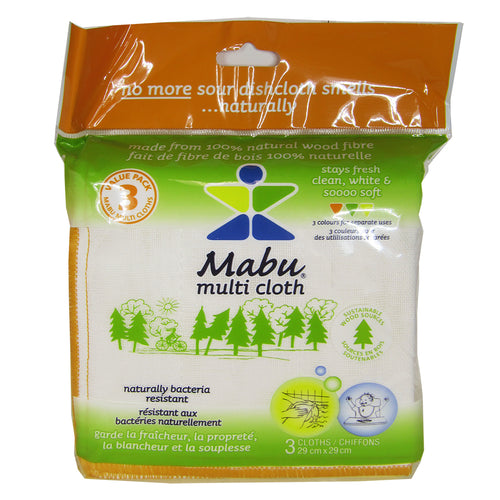 Mabu Multi Cloth 3-pack, front