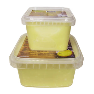 1 and 2 pound containers of Raw Shea Butter from Maiga