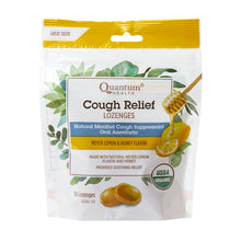 bag of Quantum Health Cough Relief Lozenges, Meyer Lemon and Honey Flavour