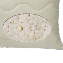 Load image into Gallery viewer, Close-up of granulated talalay latex fill in core of Dream Mate Pillow