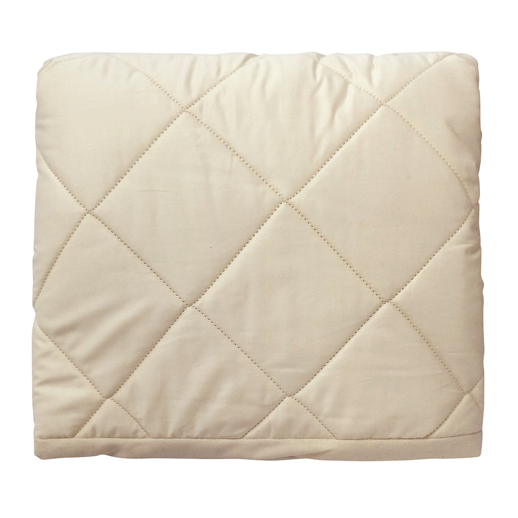 Natura - Organic Wool-Filled Fitted Mattress Pad