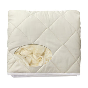 Natura - Washable Wool Fitted Mattress Pad