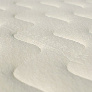 close-up of organic cotton cover of Nature's Embrace Organic Mattress