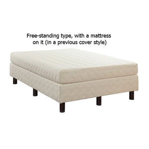 a free-standing Nature's Embrace Mattress Foundation and a mattress, in their previous cover style