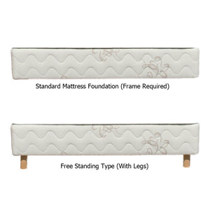a standard and a free-standing Nature's Embrace Mattress Foundation