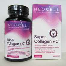 Load image into Gallery viewer, Bottle of 120 Tablets of Neocell Super Collagen Plus C (and its box)