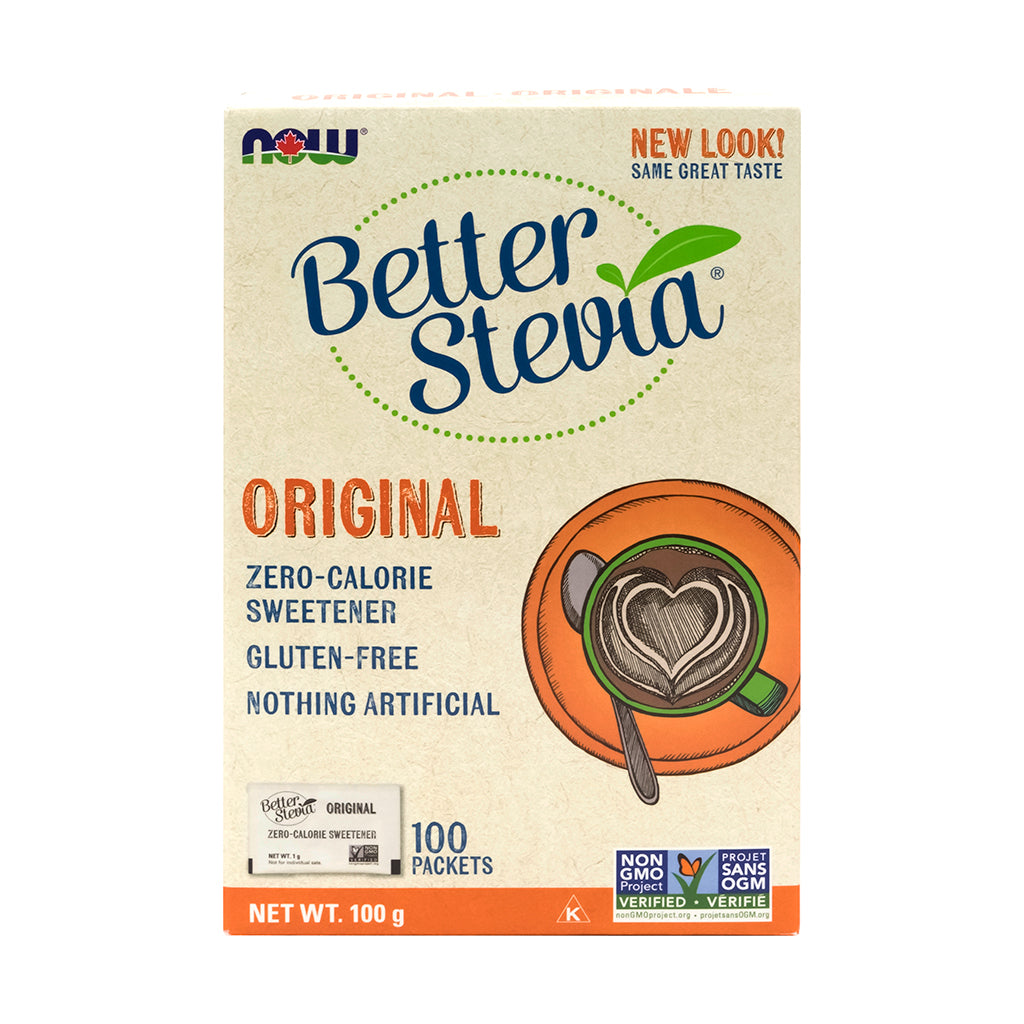 Box of NOW Original Better Stevia packets