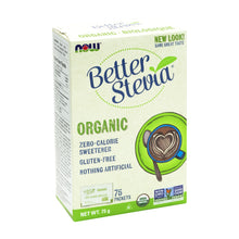 Box of NOW Organic Better Stevia Sweetener packets