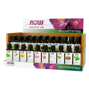 Display Case of 30 typpes of NOW 100 Percent Pure Essential Oil in 30 ml bottles