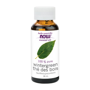 30 ml bottle of NOW 100 Percent Pure Wintergreen Oil
