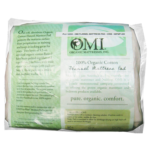 OMI - Organic Cotton Flannel Crib Mattress Pad
